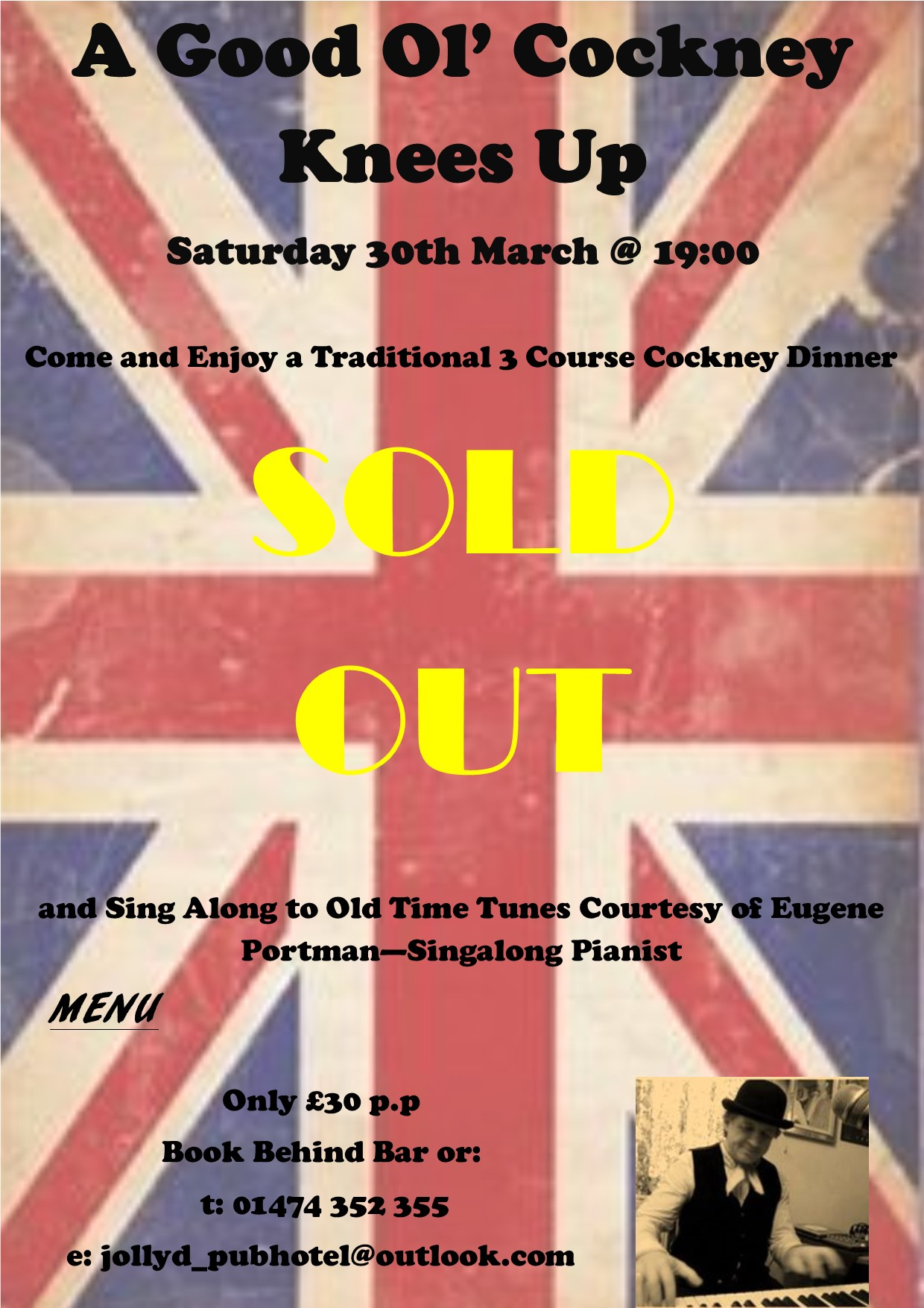 Cockney Night 2019 - SOLD OUT